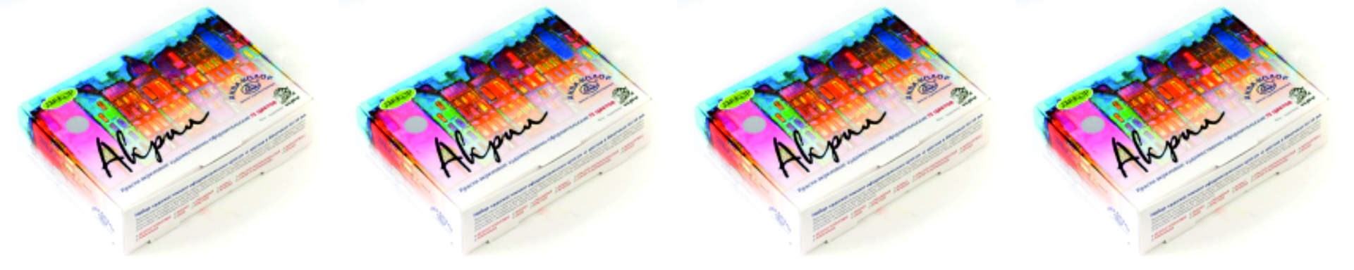 Набор акриловых красок: 12 цветов - фото 5002